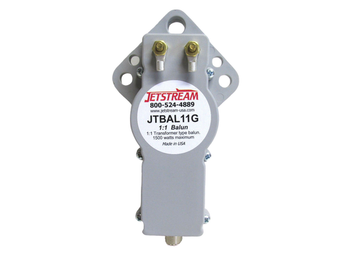 Jetstream JTBAL11G - Balun, Transformer Type, 1:1 Ratio, 3.5-30 MHz, Gray