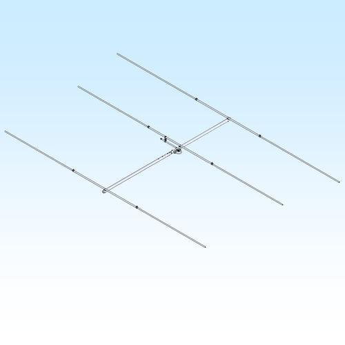 6 Meter (50-54 MHz) Ham Radio Yagi Base Antenna, 3 elements