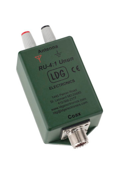 LDG Electronics RU-4:1 - UNUN, 200 W, 4:1 Ratio, 1.8-30 MHz, Ferrite Core, 200 ohms Termination Impedance, UHF Female, SO-239