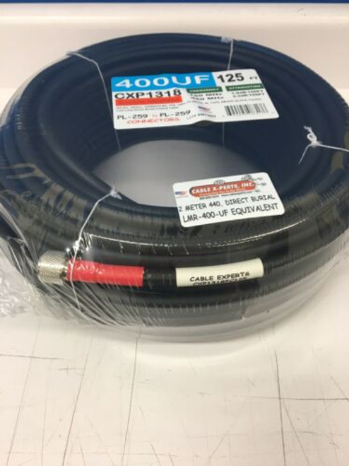 125 ft Cable x-perts LMR-400 Flexible Direct Burial Coax Cable