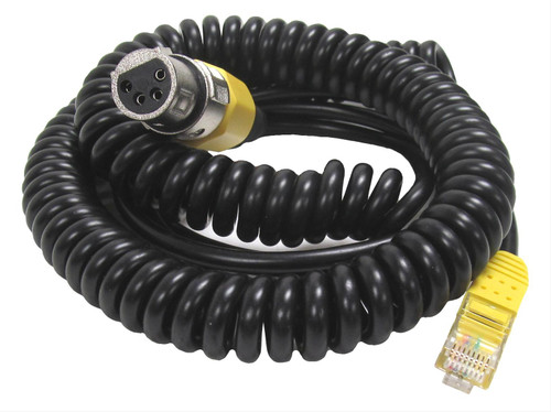 Heil Sound CH-1-YM - Microphone Adapter Cable, Coiled, XLR4 to Yaesu 8-pin Modular