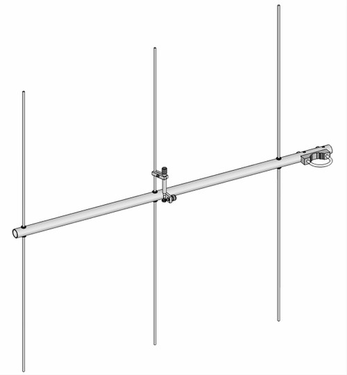 M2 - 2M - 3SS, 2 Meter (144-148 MHz) Ham Radio Yagi Antenna, 3 ele