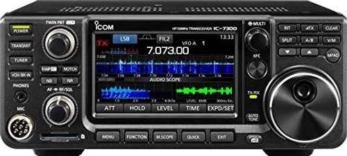 ICOM IC-7300 - HF/50 MHz Amateur Radio Color Touchscreen Transceiver, 100 W