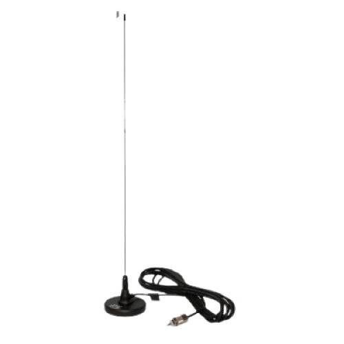 Dual Band 1/2 Wave Mobile Antenna w/ Magnetic Mount, 15ft Coax