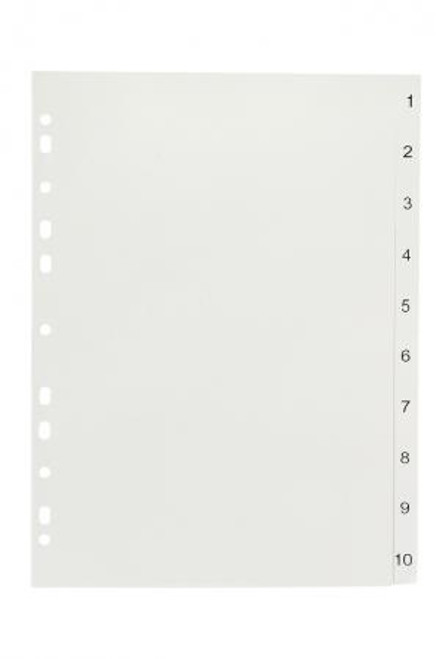 A4 Dividers 10 Tab Numbered