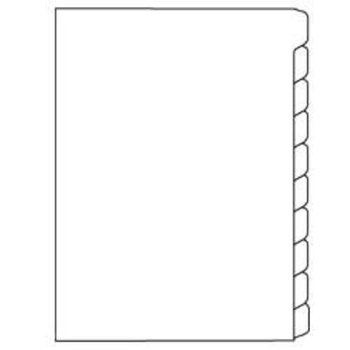 A4 Dividers 10 Tab Plain