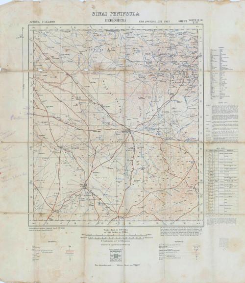 Map of Beersheba 1917