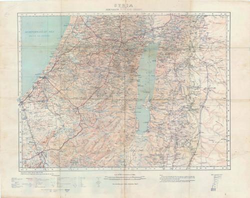 Map of the Region around Jerusalem 1917