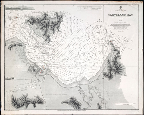 Map of Cleveland Bay, Townsville 1886