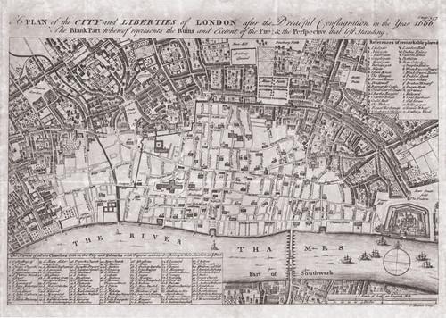 London Plan Great Fire 1666