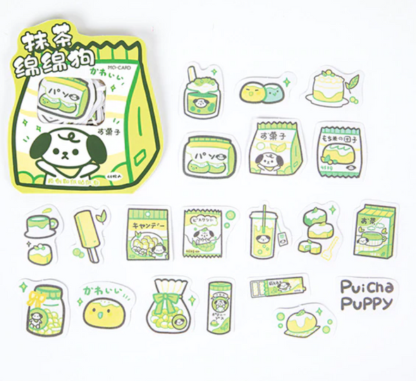 Green Snack Stickers