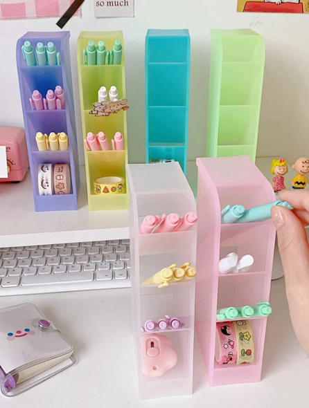 Clear Colored Pen Holders