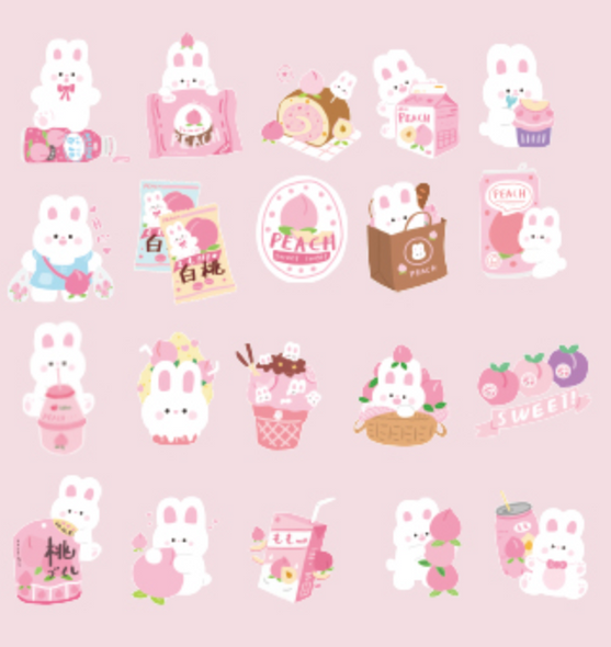 Peachy Bunny Stickers