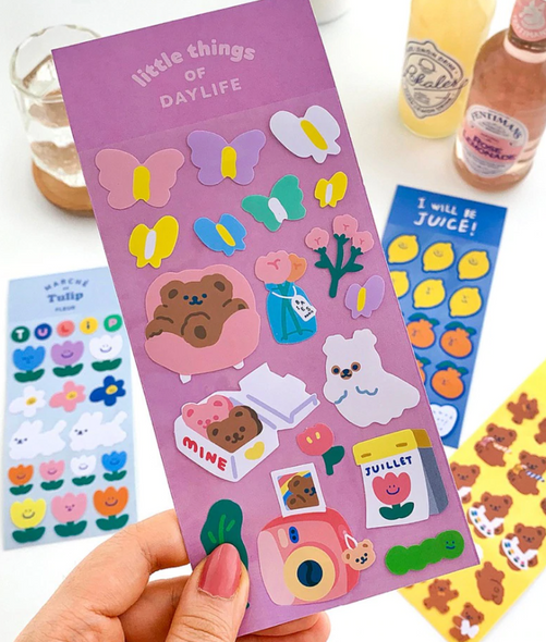 Spring Time Bear Stickers