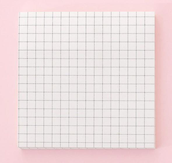 Black and White Grid Memo Pad