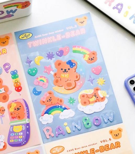 Rainbow Bear Stickers
