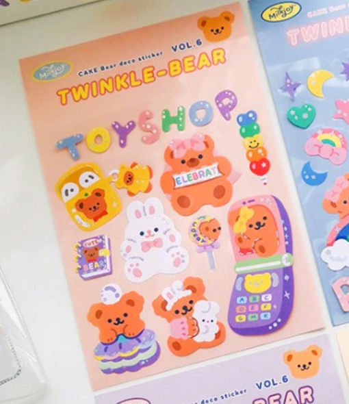 Beary Toy Shop Stickers