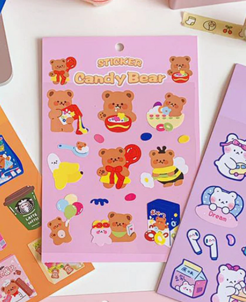 Cereal Bear Stickers