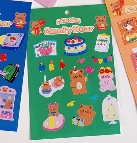 Birthday Beary Stickers