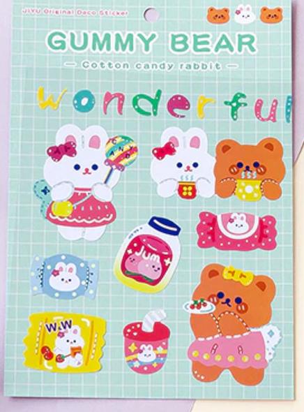 Sweet Sharing Bear Stickers