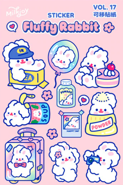 Traveling Bunny Stickers
