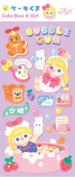 Bubble Gum Girl Stickers