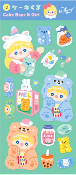 Beary Girl Sticker Sheet