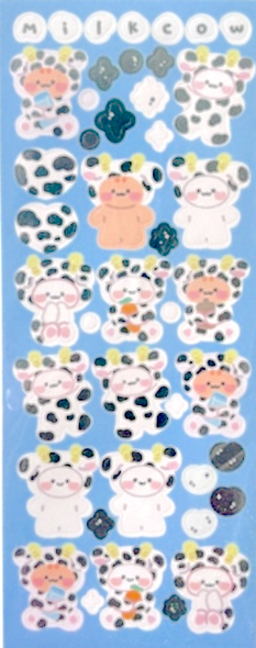 Milky Cow Costume Stickers
