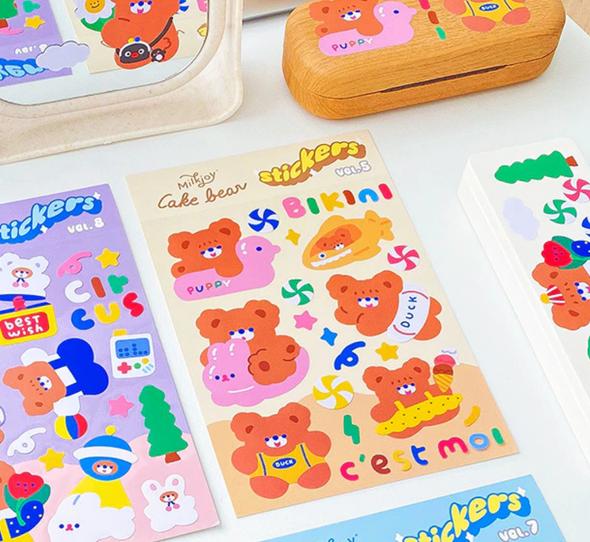 Bikini Bear Stickers