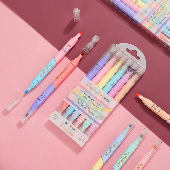 Double Sided Pretty Pastel Highlighters