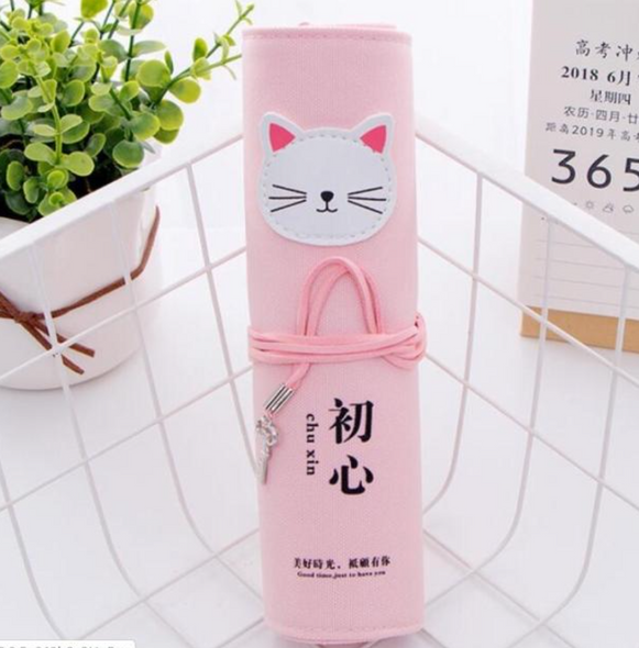 Kitty Cat Roll up Pencil Case