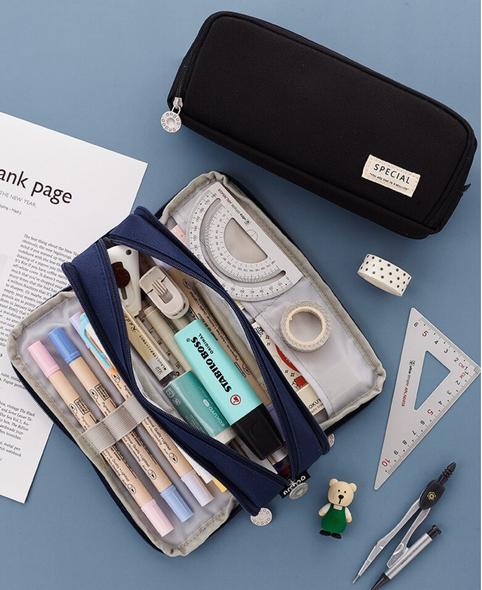 Multi Compartment Pencil Case