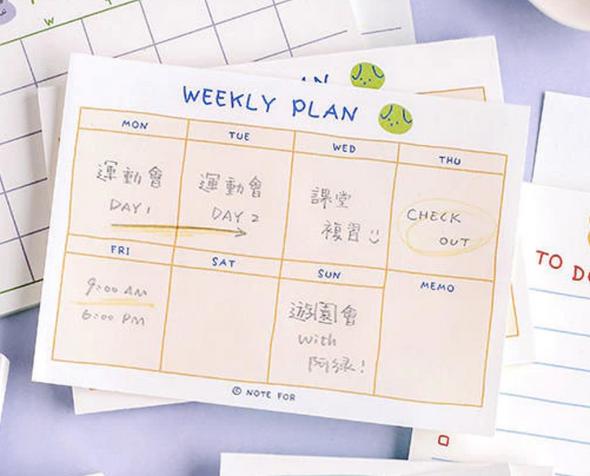 Cute Weekly Planner Memo Pad