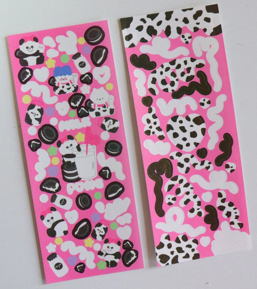 Milk and Cookies Sticker Sheets
