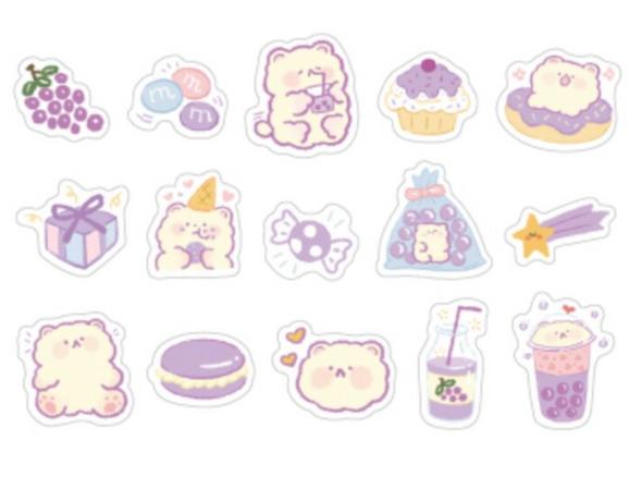 Grapey Bear Stickers