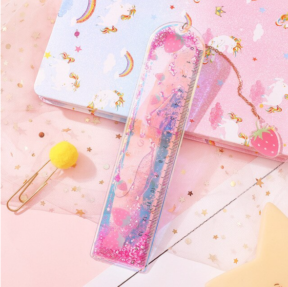 Strawberry Liquid Glitter Ruler