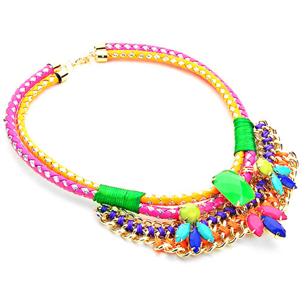 Zoe's Fiesta Corded Statement Necklace