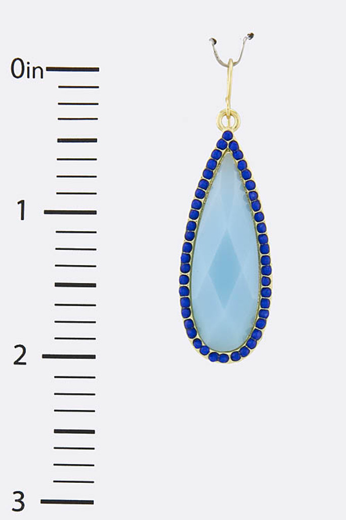 Blue Teardrop Earring