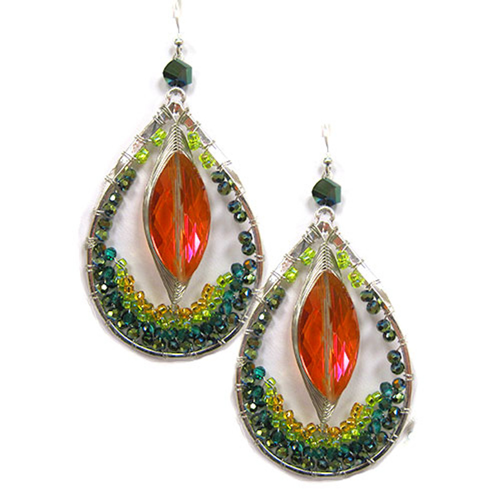 Mystical Crystal Exotic Collection Earring