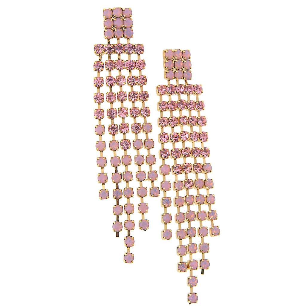 Pink Chain Chandelier Earring