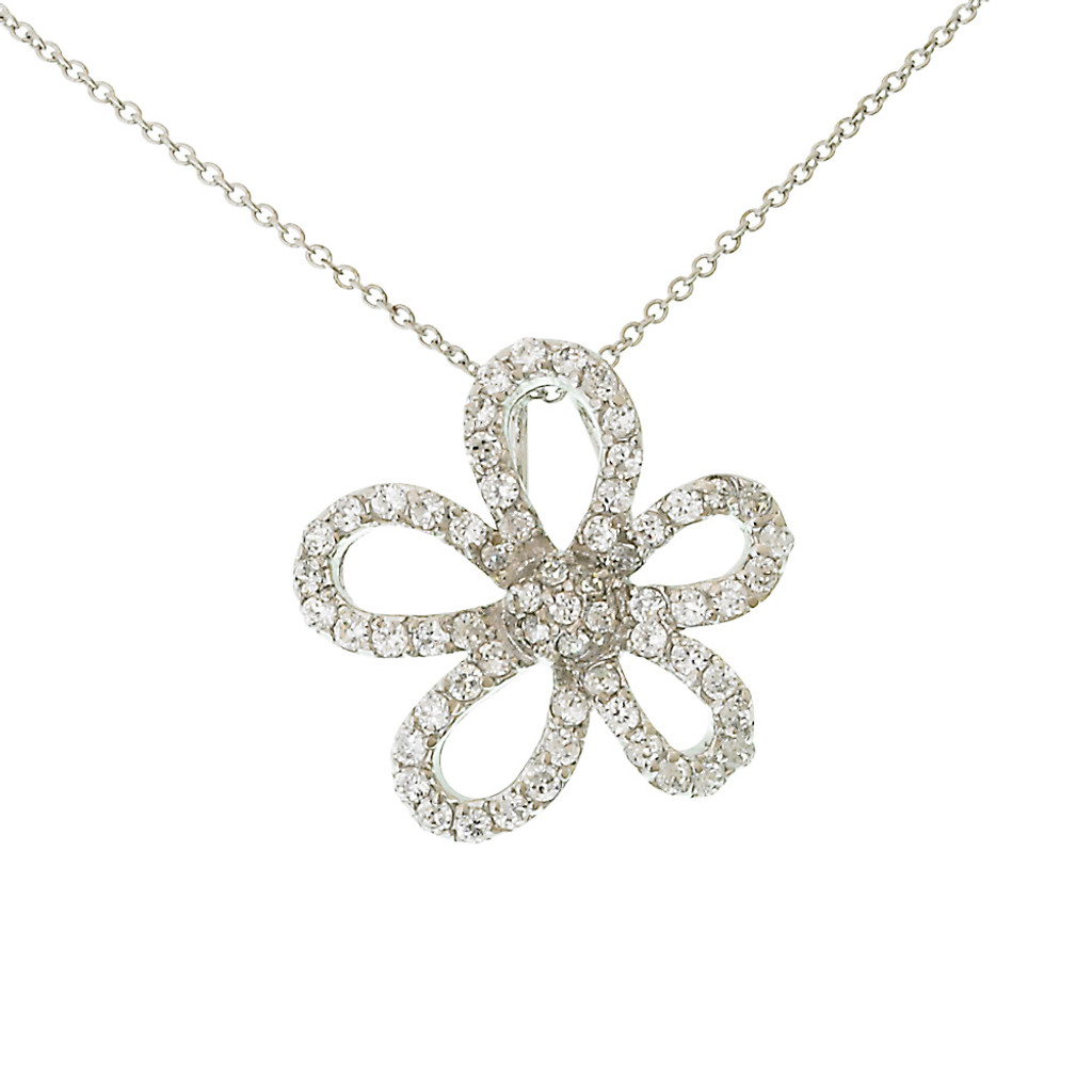 Single Flower Pendant Necklace