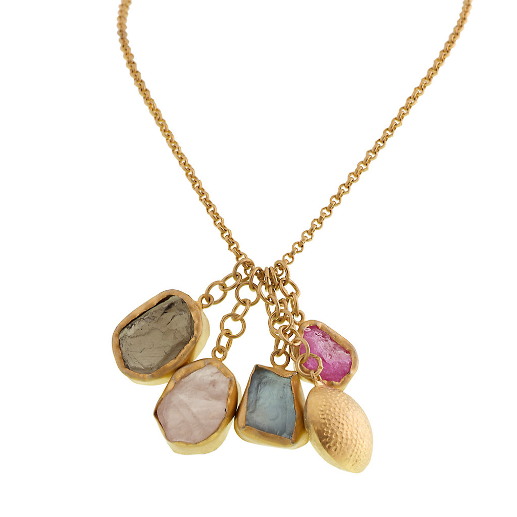 Dangling Raw Semi-Precious Necklaces