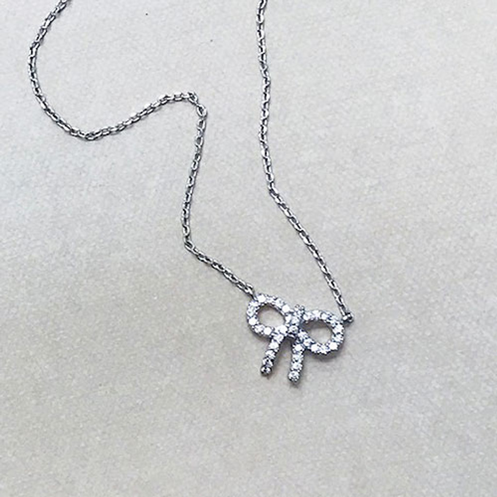 """Bow to Remember"" Itty Bitty Necklace"