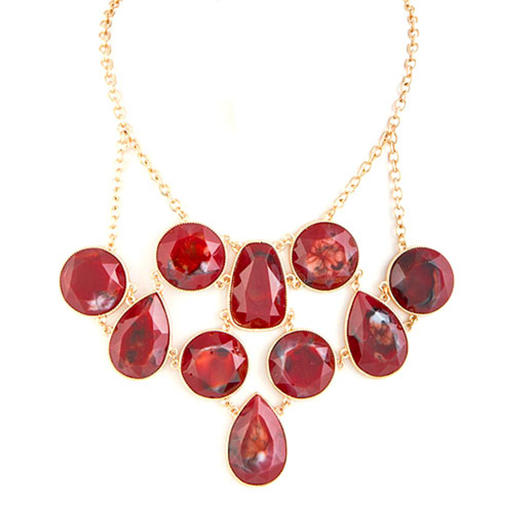 Chain Linked Baubles Red