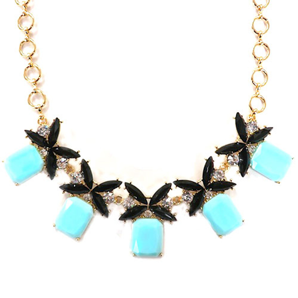 Five Kisses Necklace Black