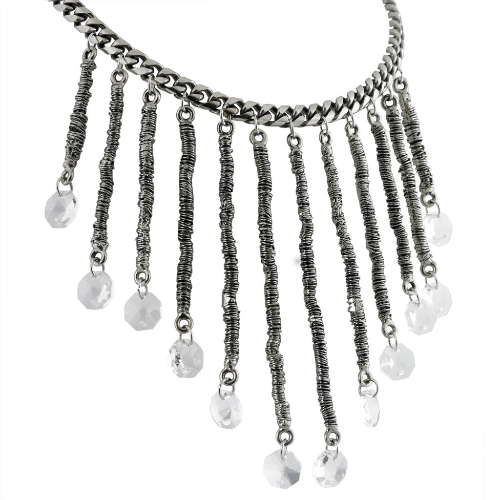 Drop Dead Gorgeous Wrapped Wire Statement Necklace