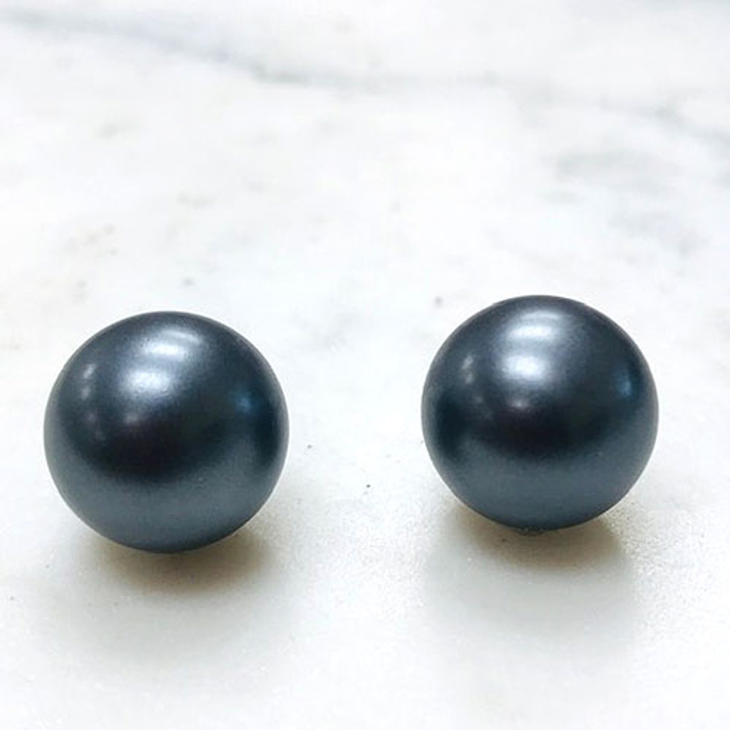 Large Round Gray Pearls