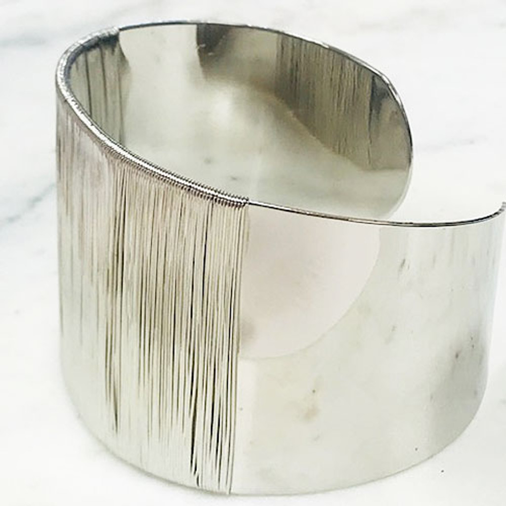 Let's Get Wired Silver Cuff