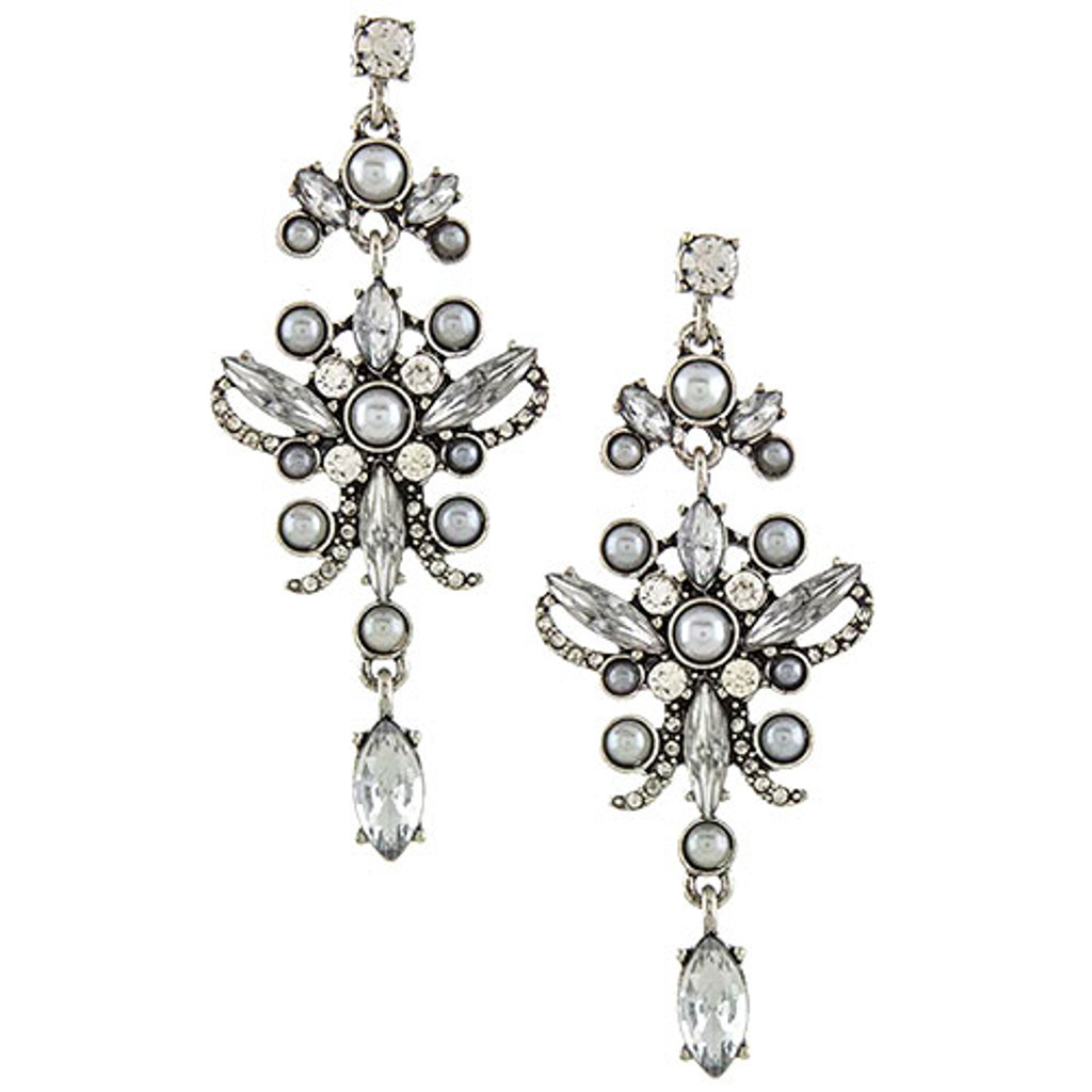 Antiqued Silver Maria Antoinette Earring