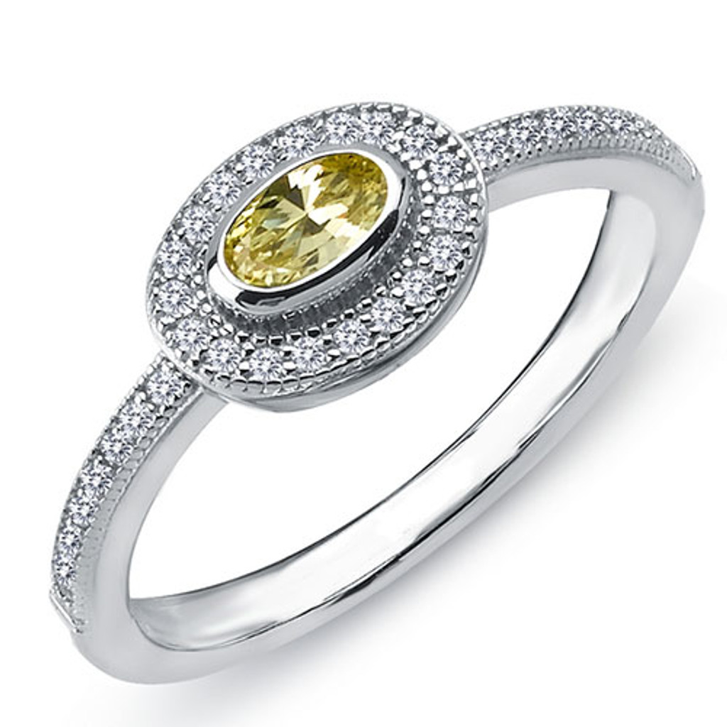 Lafonn's Bezel Set Canary Ring